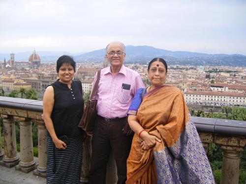 Venkataramani Lakshmibai, Seshadri and his wife Sundari. Credit C.S. Seshadri