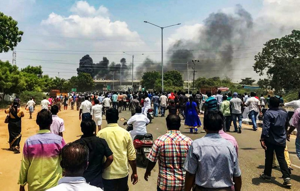 TN: Several killed in police-firing as Sterlite protests turn violent