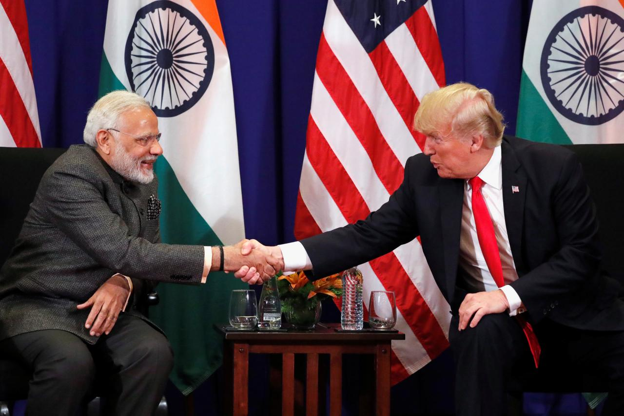 Touting ties: US, India announce military drills