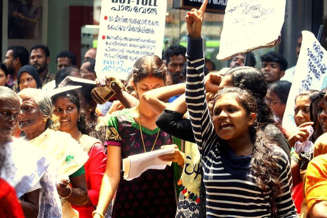 Dalits protesting in Kannur. Credit: Rejimon K.