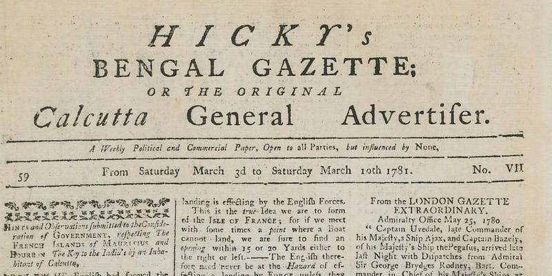 When the Founder of India's First Newspaper Refused to Surrender His Right to Print