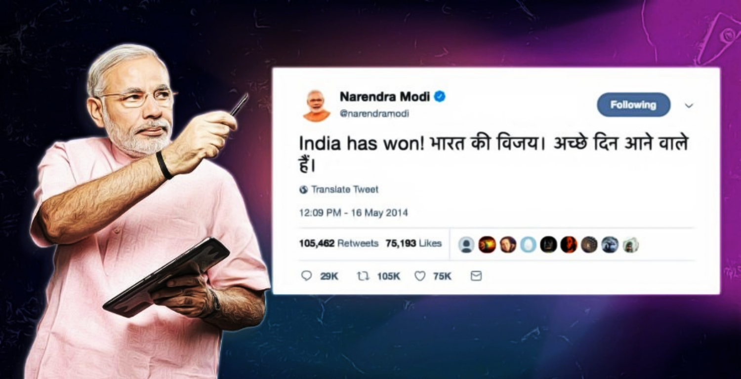 Can't Find 'Vikas' or #AccheDin? Check Narendra Modi's Twitter Timeline
