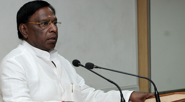 The Centre's Approach to Southern States is Step-Motherly: V. Narayanasamy