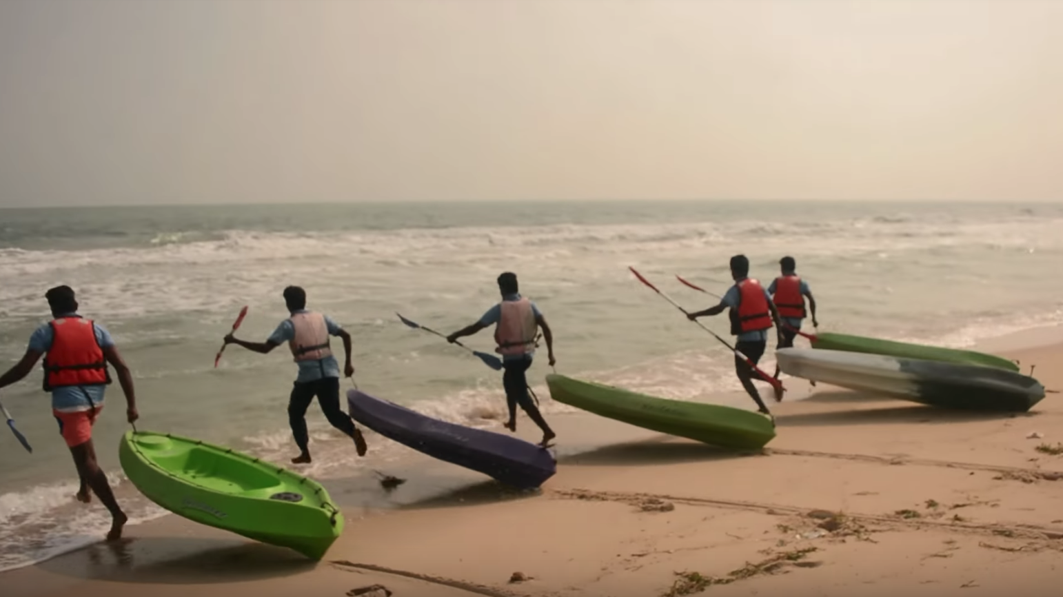 Younger fishers have started to diversify their sources of income, such as by training others in water-based adventure sports. Source: YouTube
