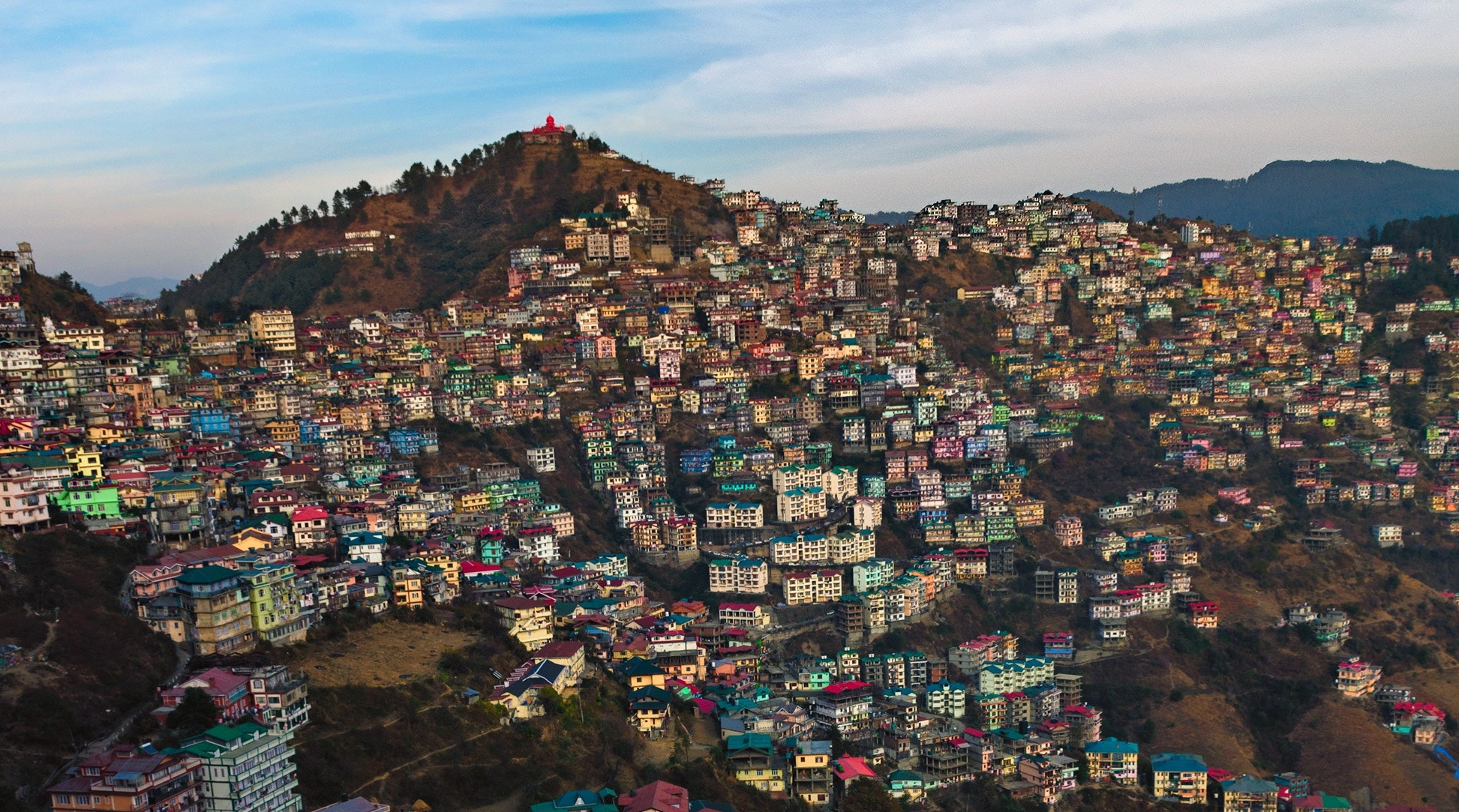 In popular culture and popular imagination, Shimla has been cast within the columns of its colonial heritage. Credit: Pritam Das Biswas/Unsplash