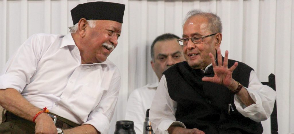As RSS Event Hogs TV Limelight, Pranab Mukherjee's Soft Jibes Get Lost in the Din