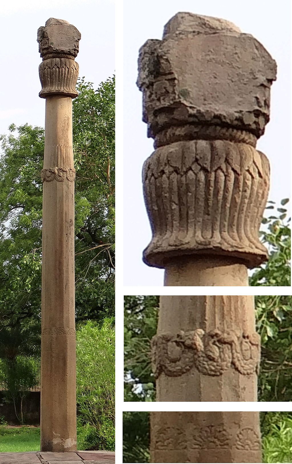 Decorative elements on the pillar. Credit: Wikimedia Commons