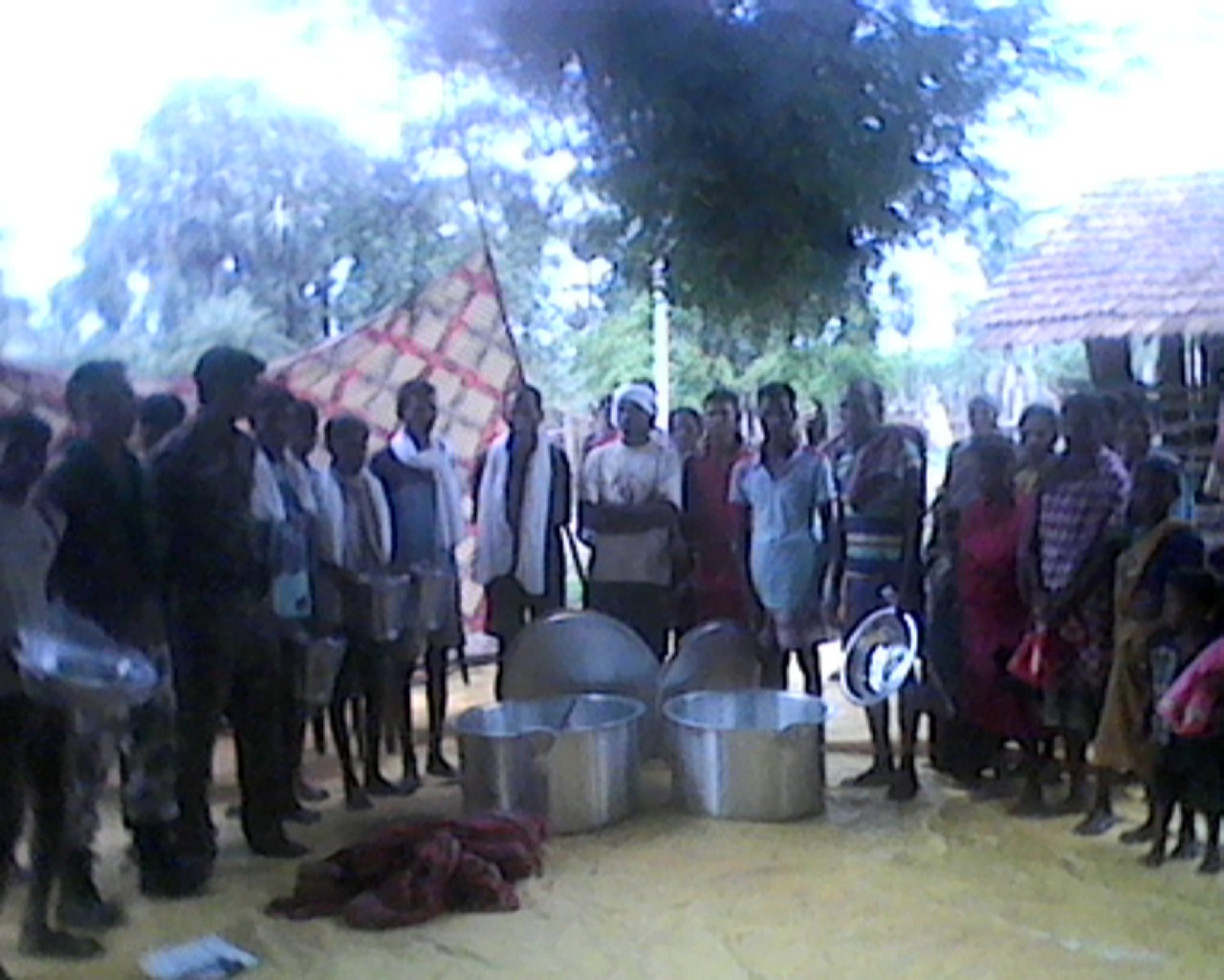 Resident of Gattepalli village claim police have been distributing sarees, umbrellas, sandals and cooking utensils in the village. Credit: Special arrangement