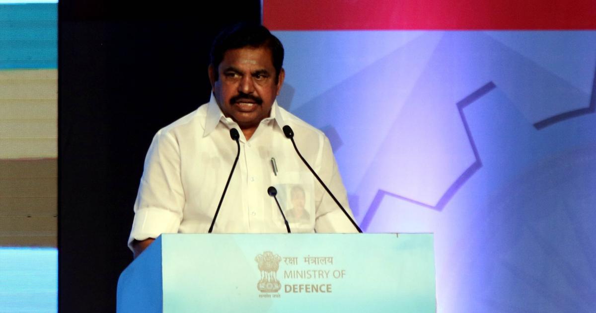 Tamil Nadu Chief Minister E. Palaniswami. Credit: IANS