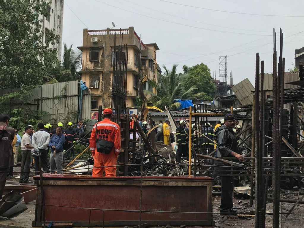 Five die as plane plunges into Mumbai building site
