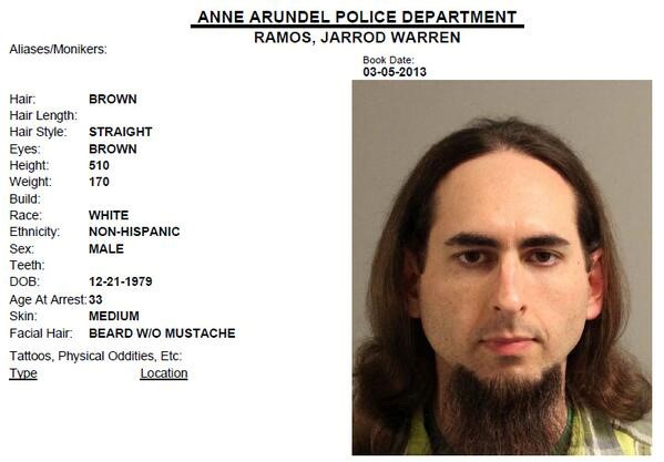 Annapolis newspaper shooting suspect ID'd as Jarrod W. Ramos