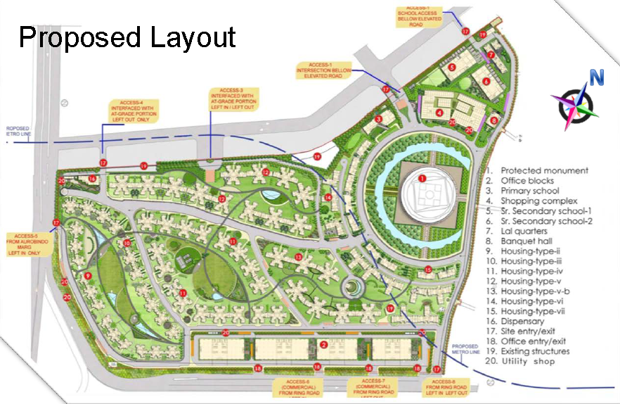 Site layout plan. Credit: projects.cbix.in