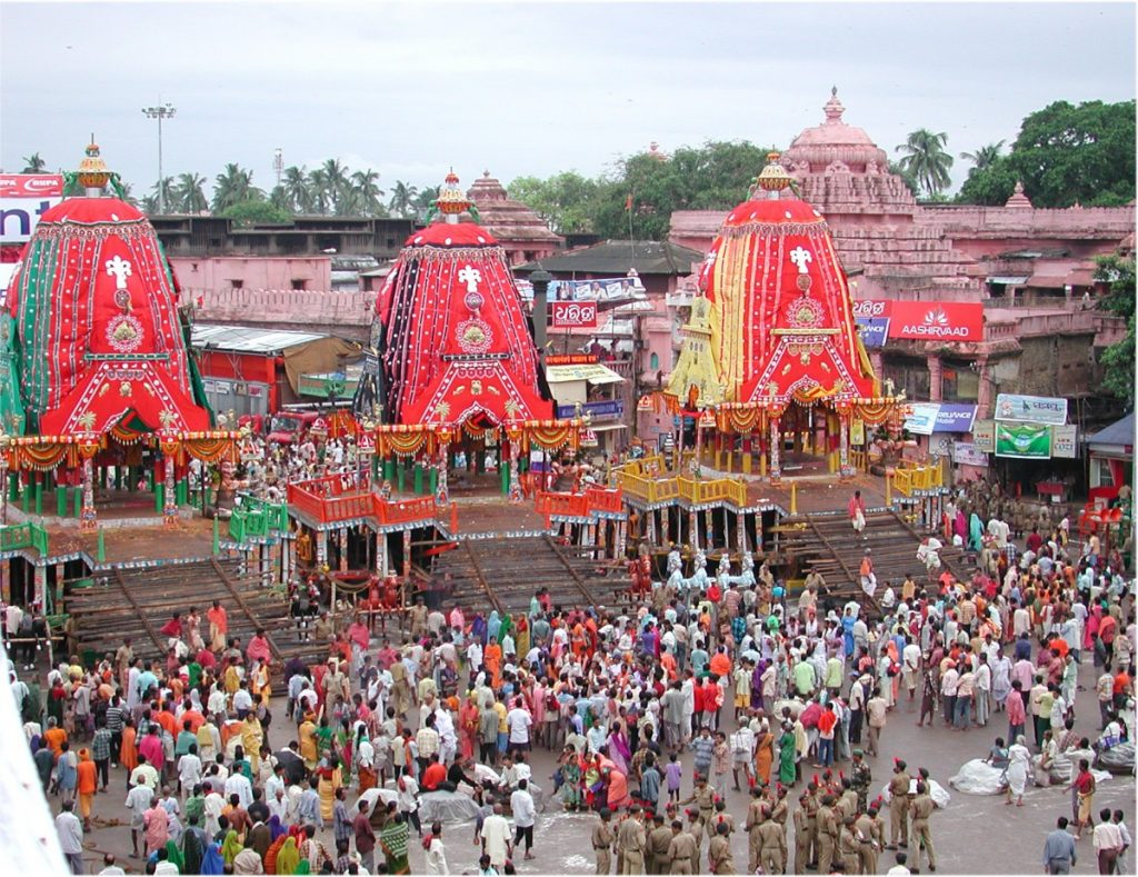 The 'rath yatra' is an annual ritual held at the Jagannath Temple in Puri. Credit: Wikimedia Commons