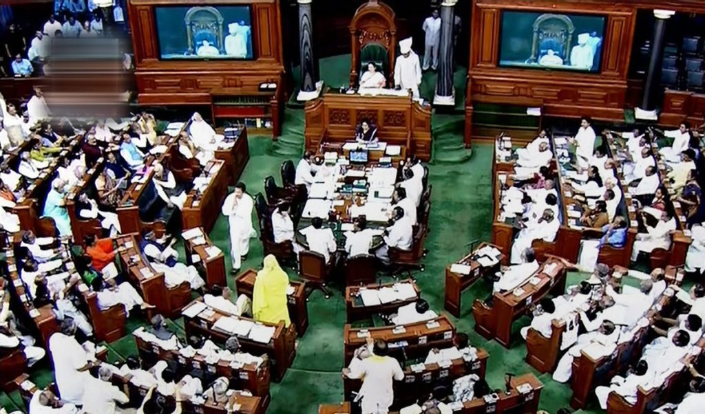 Lok Sabha in session. Credit: PTI