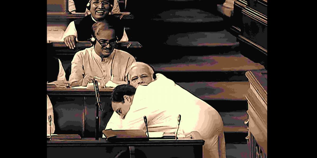 A Memorable Hug in Indian Politics