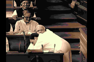 A Memorable Hug in Indian Politics