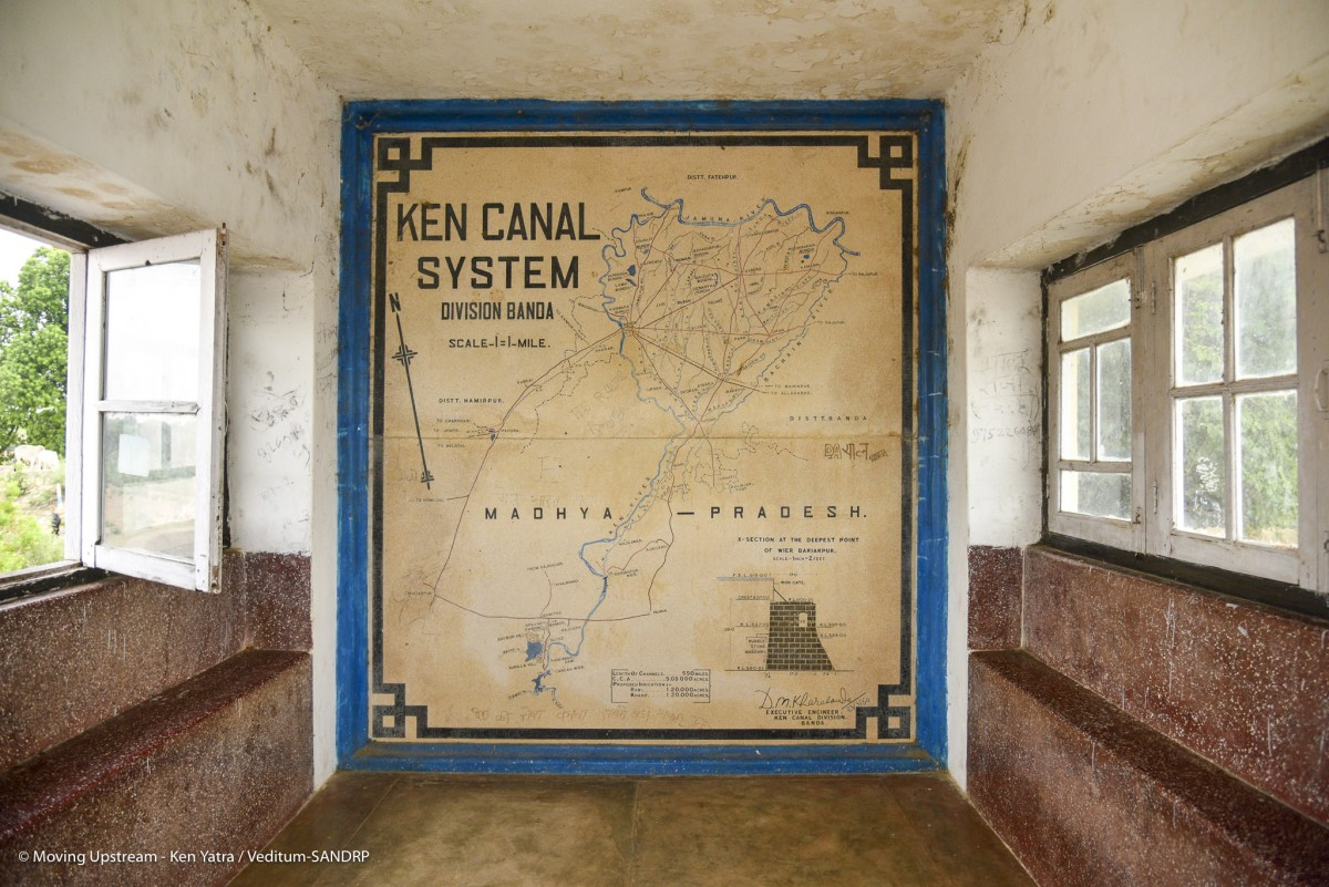 Map of the Ken canal system at the Bariyarpur barrage. Credit: Veditum-SANDRP