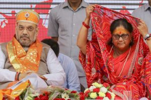 Raje May Have Launched Her Campaign at a Temple, But People Aren't Convinced of Her Devotion