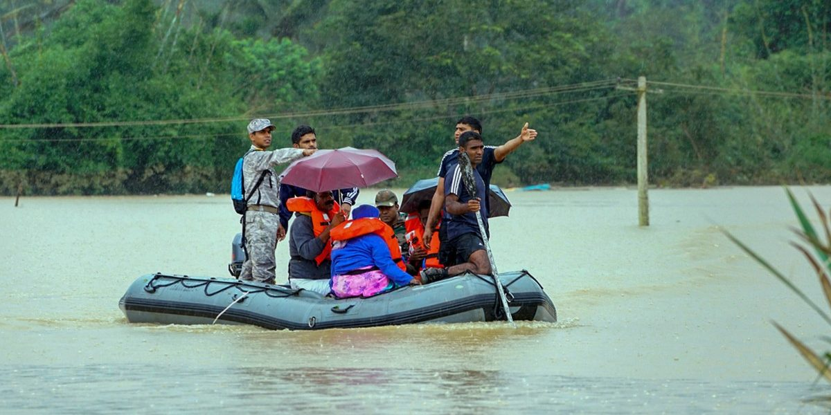 Rains Lash Several Parts of Kerala Relief Work Affected