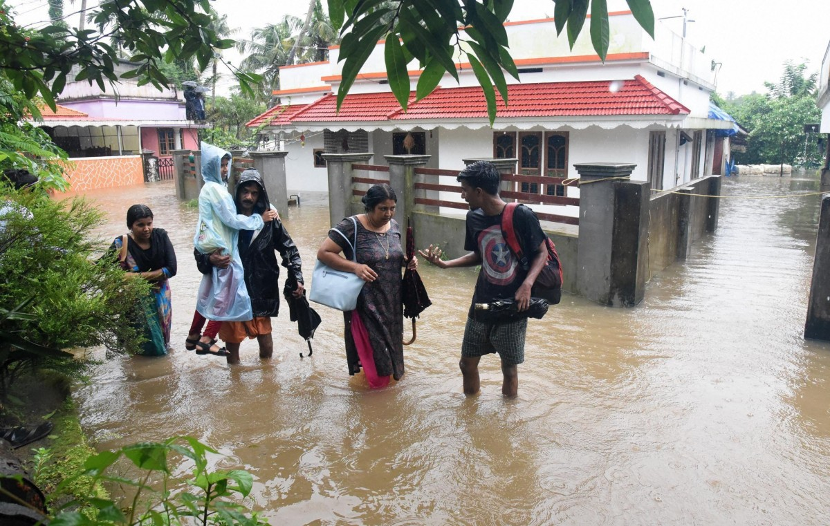 Rescue efforts during the Kerala floods. Credit: PTI