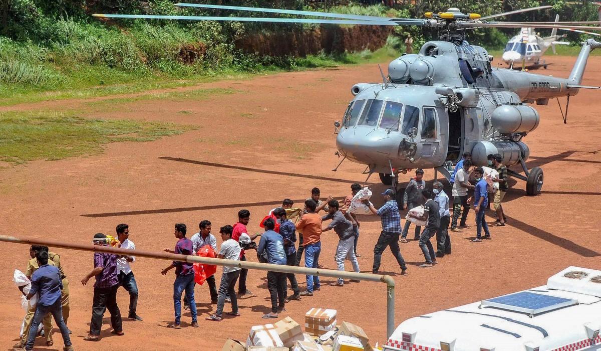 Relief efforts in Kerala. Credit: PTI