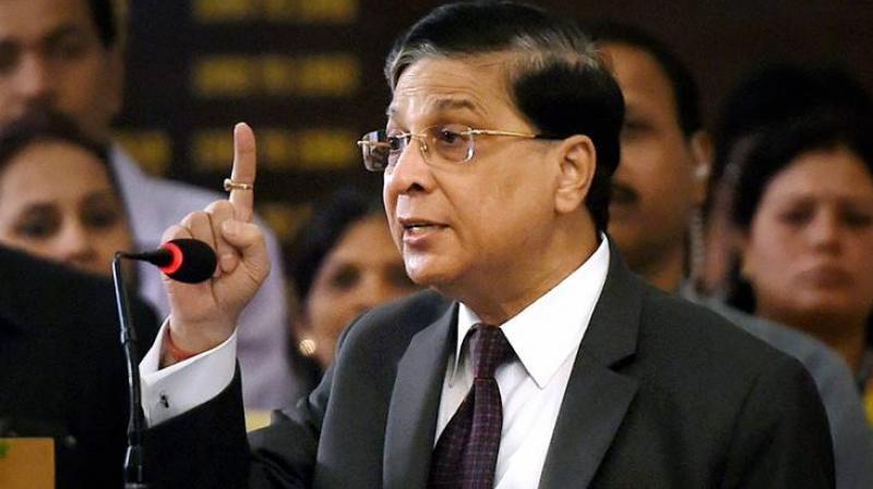 The Chief Justice of India, Dipak Misra. Credits: PTI