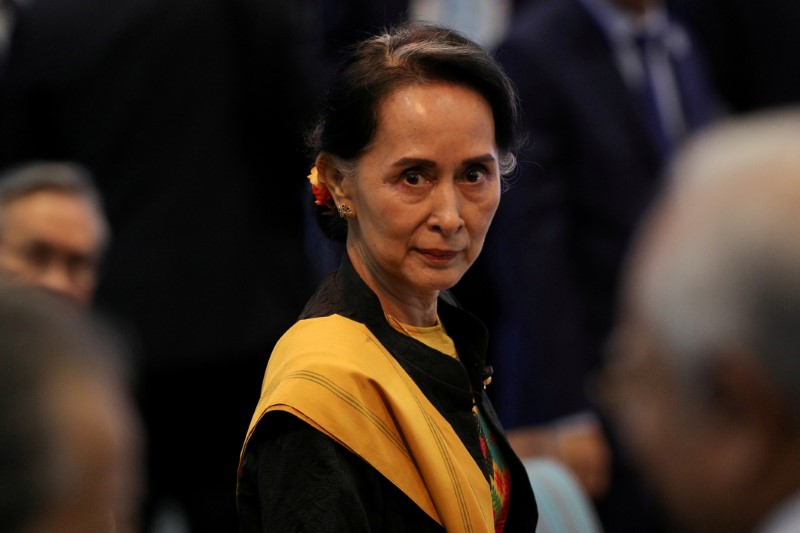 Myanmar's Suu Kyi Defends Court Decision to Jail Reuters Journalists