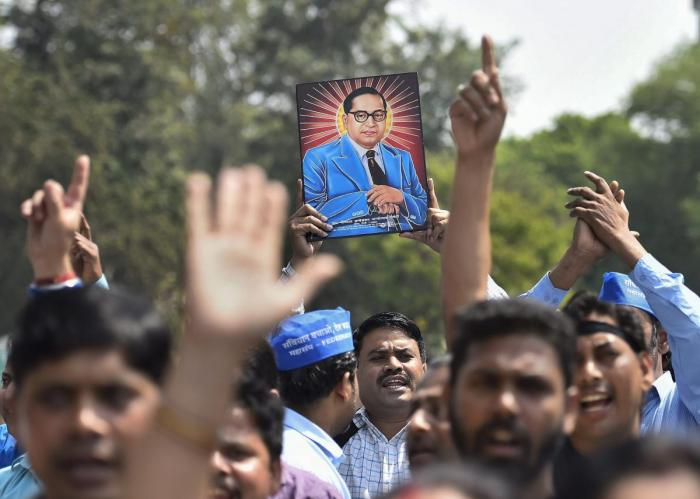 The term 'Dalit',which indicated the natural social status of those oppressed by caste,gained huge attention after the Ambedkar centenary in the 1990s. Credit: PTI