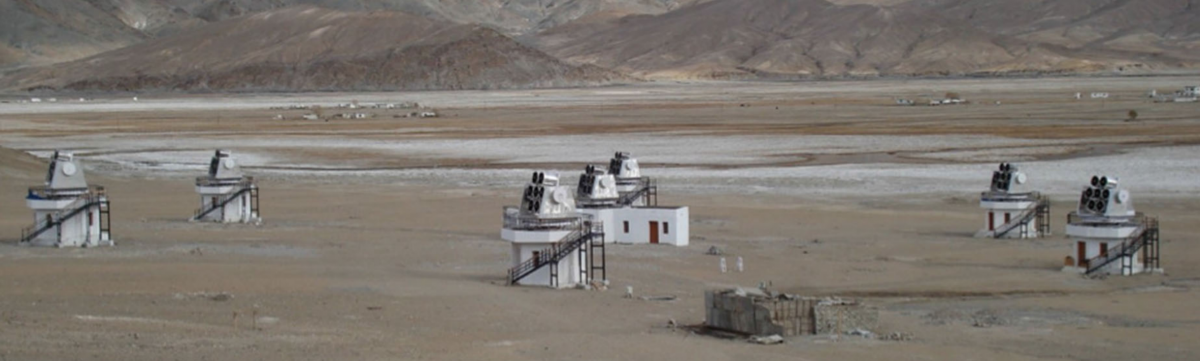 The HAGAR telescope array in Hanle, Ladakh. Credit: ias.ac.in