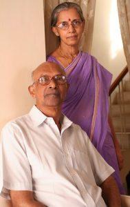 K.S. Manilal and Jyotsna Manilal in 2008. Credit: K.S. Manilal