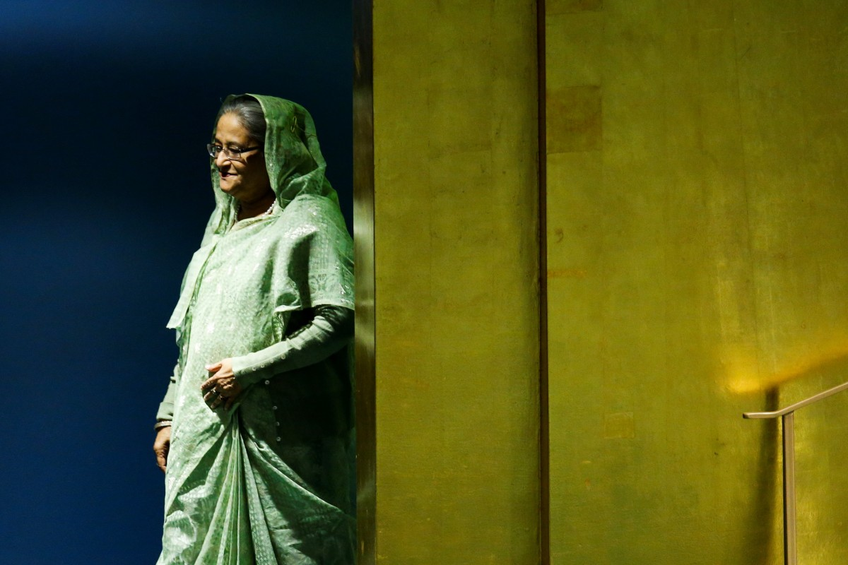 Bangladeshi Prime Minister Sheikh Hasina arrives to address the 73rd session of the United Nations General Assembly at U.N. headquarters in New York, U.S., September 27, 2018. REUTERS/Eduardo Munoz/File Photo