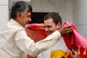 Naidu Meets Rahul, Says Alliance a Compulsion to Protect Country from BJP