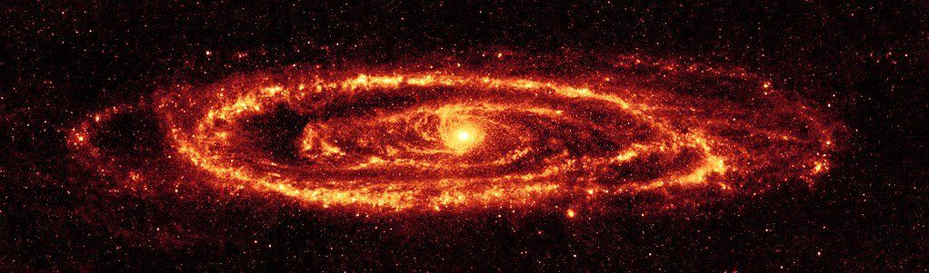 Dust in the Andromeda Galaxy, as seen by the Spitzer Space Telescope. Credit: NASA/JPL-Caltech/K. Gordon (University of Arizona)