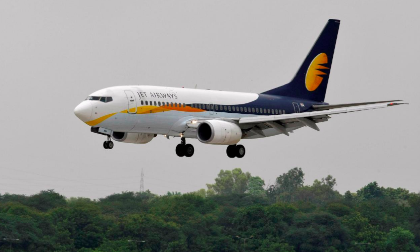 Employees of beleaguered Jet Airways demands future of the airline and salaries
