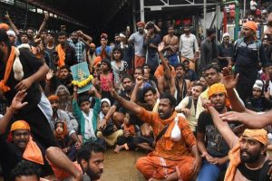 Sabarimala Protests: BJP March Turns Violent; Police Use Water Cannons, Tear Gas