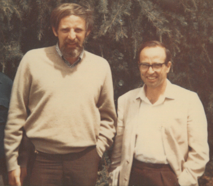 Raoul Bott (left) and Michael Atiyah. Credit: Bott Family