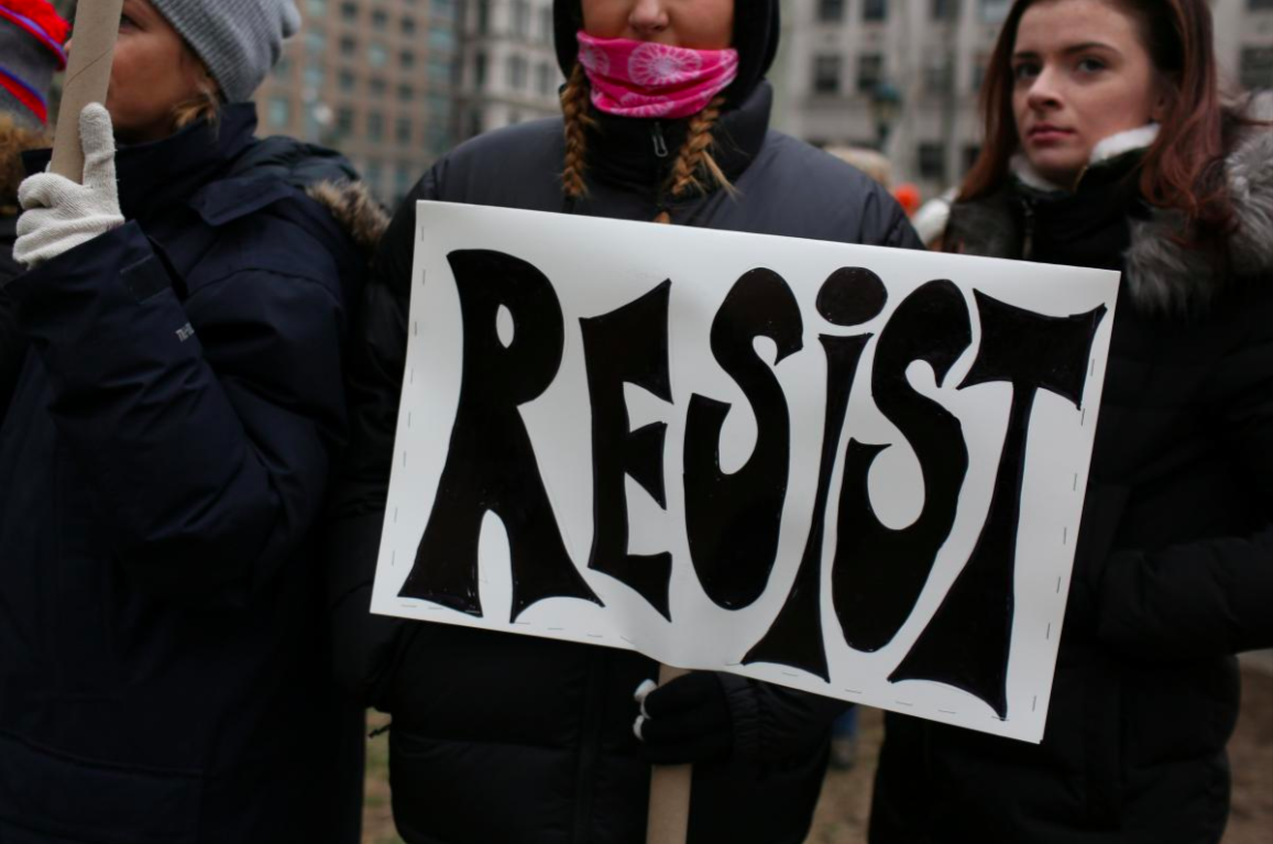 People take part in the Women's Unity Rally in Foley Square, Manhattan in New York City, New York, U.S., January 19, 2019. Credit: REUTERS/Gabriela Bhaskar