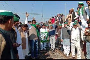 Angry Farmers Block Railway Tracks in Muzaffarnagar Over Unpaid Sugarcane Dues