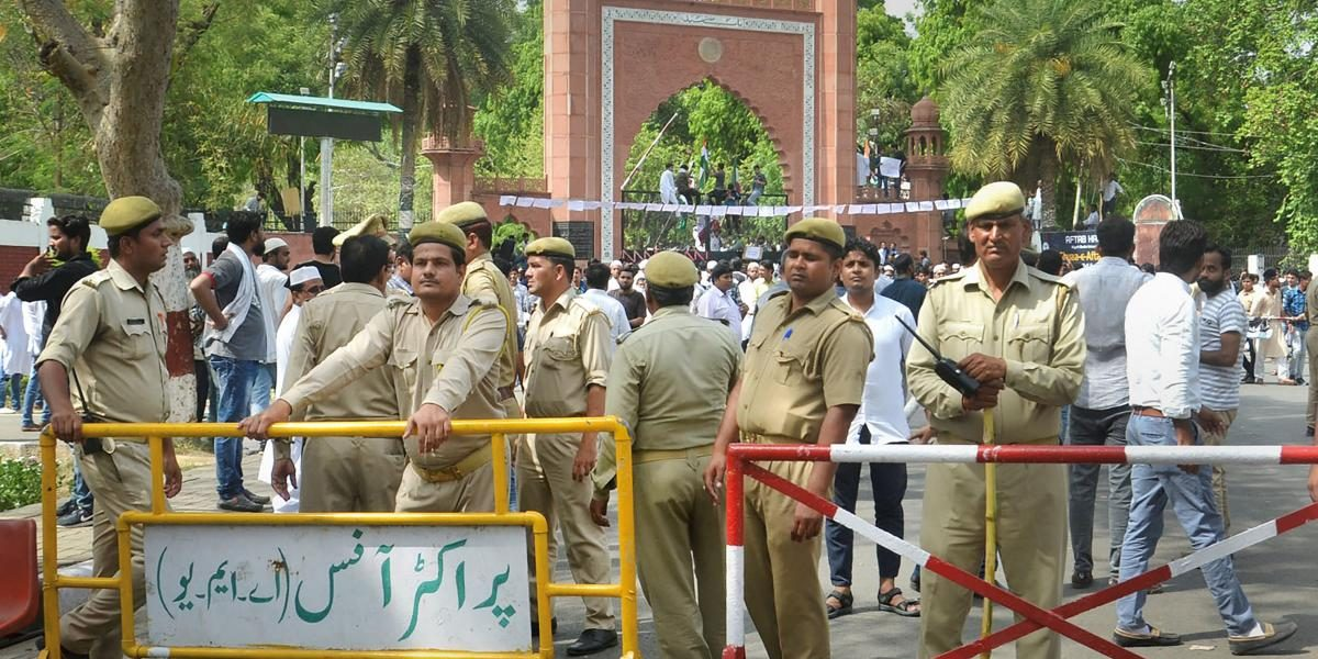 Police Quash Sedition Charges Against 14 AMU Students