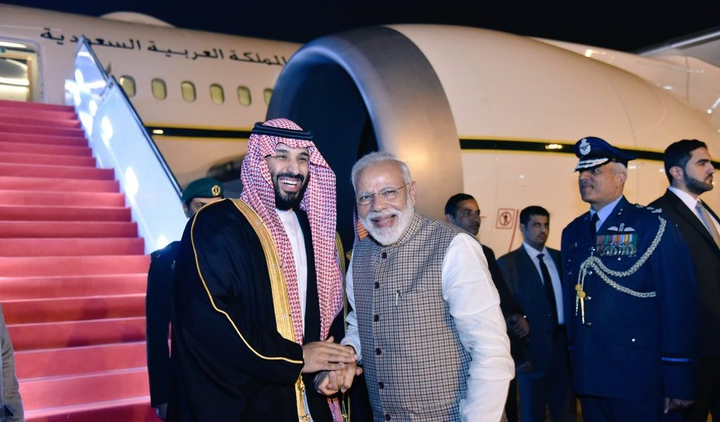 PM Modi Receives Saudi Crown Prince Mohammed bin Salman at Airport