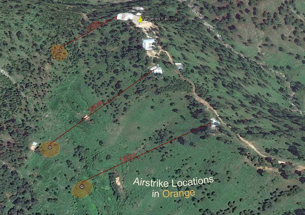 Image result for pics of satellite images of india's balakot strike