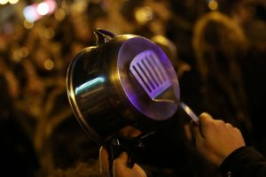 Protestors in Madrid Kick Off Women's Day by Banging Pots and Pans