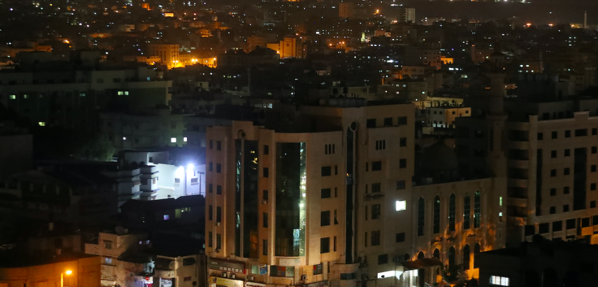 gaza at night