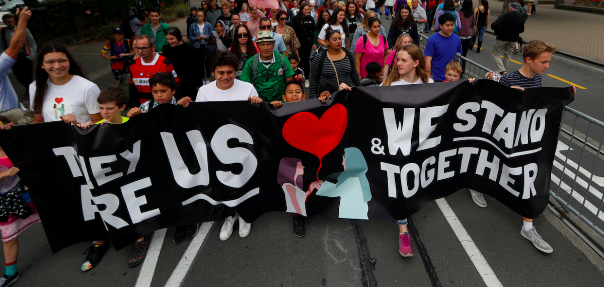 "People take part in the ""March for Love"" at North Hagley Park after the last week's mosque attacks in Christchurch, New Zealand March 23, 2019. Credit: REUTERS/Jorge Silva"