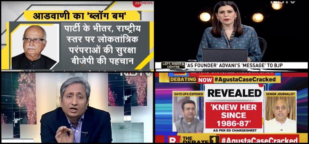 #PrimetimeWatch: Advani's 'Marg Darshan', Michel's Agusta Confessions Keep Channels Busy