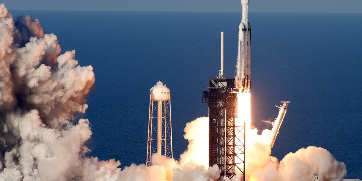 SpaceX's Falcon Heavy, World's Most Powerful Rocket, Launches First Commercial Mission