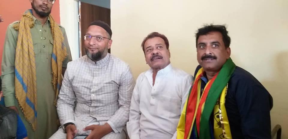 Imtiaz Jaleel and All India Majlis-e-Ittehadul Muslimeen (AIMIM) chief Asaduddin Owaisi. Credit: imtiyaz.jaleel