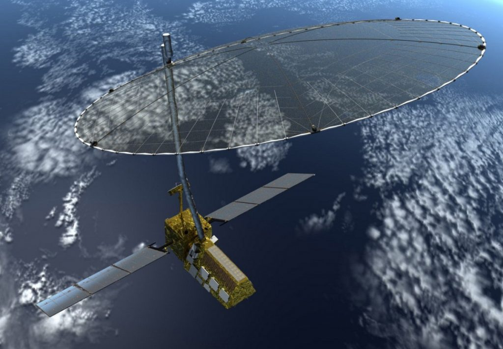Artist's impression of  NASA-ISRO Synthetic Aperture Radar. Photo: NASA