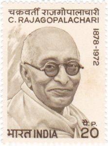 Indian postage stamp in honour of Rajaji. Photo India Post, Government of India