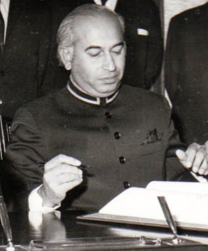 Former Pakistani prime minister Zulfikar Ali Bhutto. Photo: Wikimedia Commons